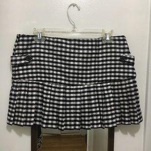 🌹Roxy Gingham Checkered Pleated Knit Mini Skirt